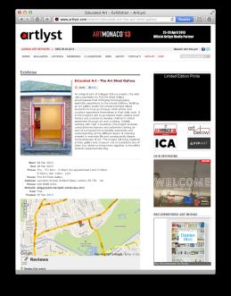 Educated Art on artlyst.com