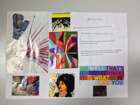 Invitation to a fictitious exhibition created by the pupils