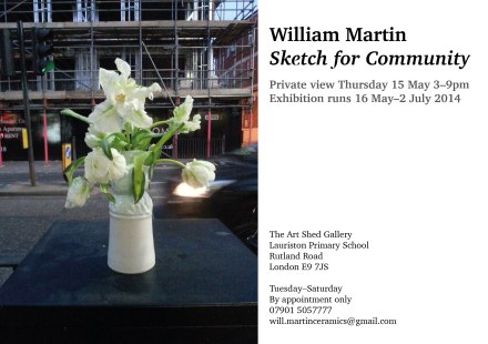 Invitation to William Martin's exhibition